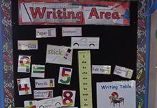 Preschoolers Writing Area